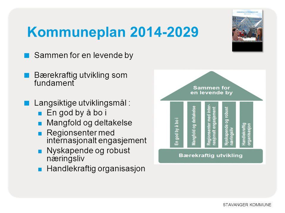 STAVANGER KOMMUNE Stavanger møter framtiden Hovedgrep i ny kommuneplan: ■ Regionalt samarbeid ■ Forebygging og folkehelse ■ Byutviklingsstrategi