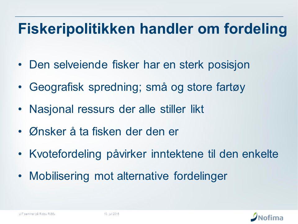 Sjøsamisk fiske – et sammensatt bilde En vellykket politisk kamp for det materielle grunnlaget for sjøsamisk kultur Få fiskemottak i store deler i STN området Fjordlinjene beskytter og begrenser.