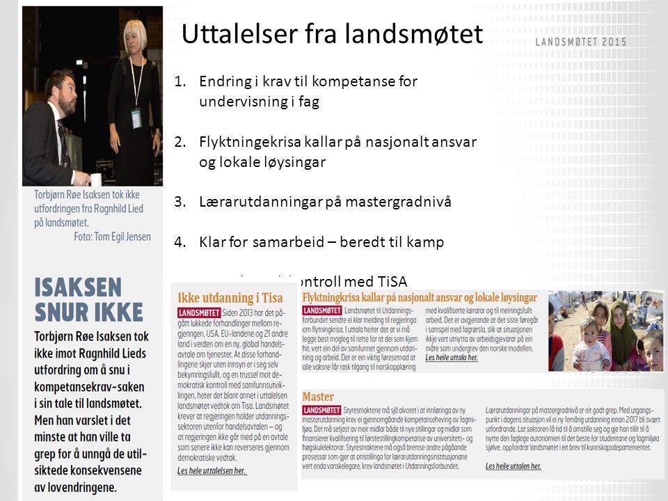 Harald takker av Ragnhild Lied på vegne av fylkeslederne.