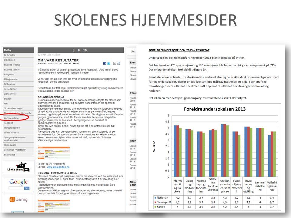 SKOLENES HJEMMESIDER