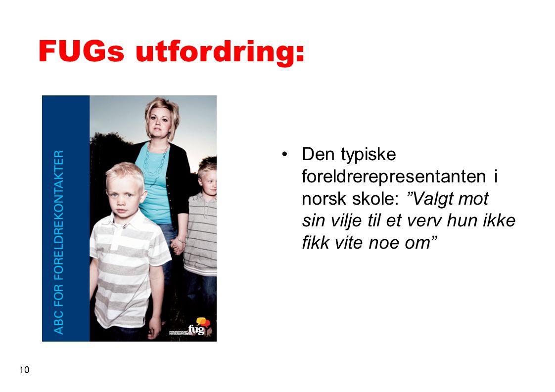 FUGs utfordring: Den typiske foreldrerepresentanten i norsk skole: Valgt mot sin vilje til et verv hun ikke fikk vite noe om 10