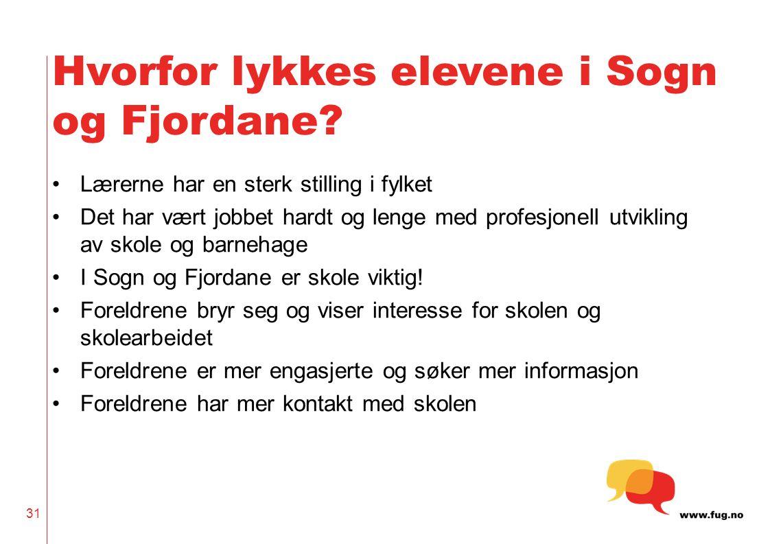 Hvorfor lykkes elevene i Sogn og Fjordane.