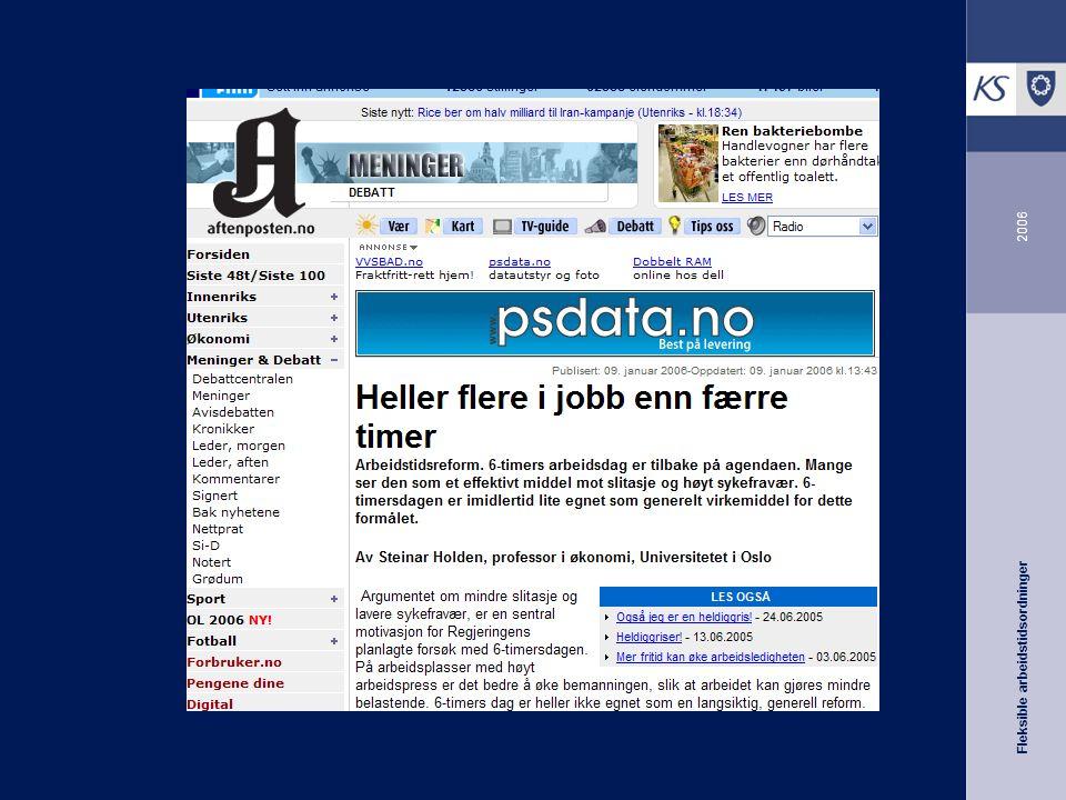 Fleksible arbeidstidsordninger 2006