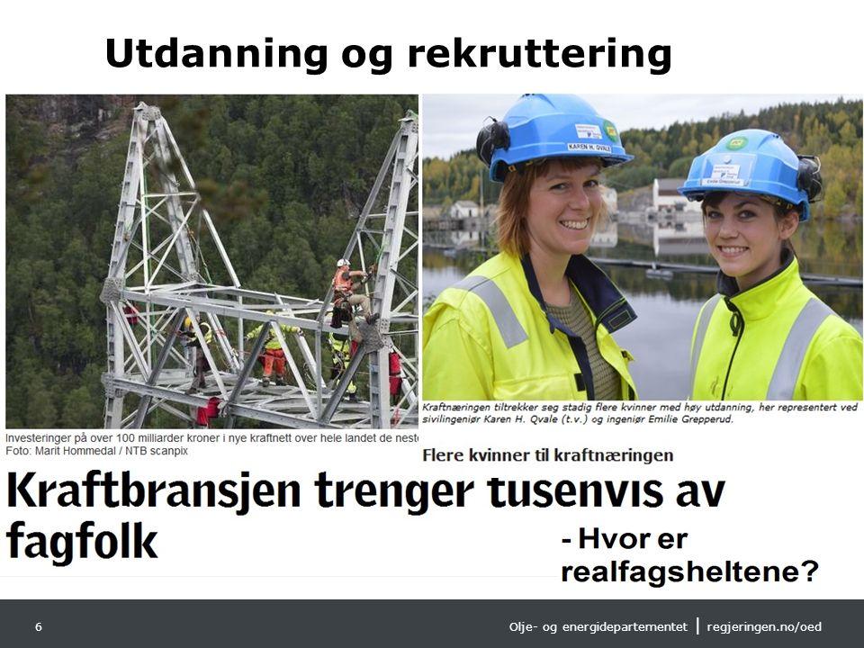 Olje- og energidepartementet | regjeringen.no/oed Norsk mal:Tekst med kulepunkter Tips bunntekst: For å få bort sidenummer, dato, samt redigere tittel
