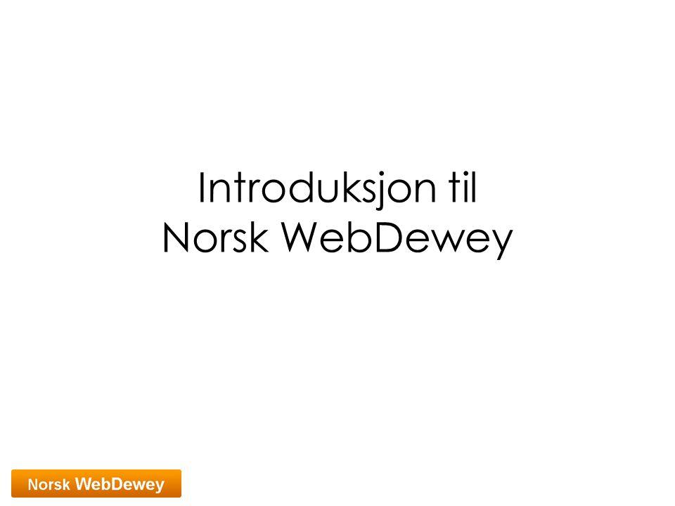 Introduksjon til Norsk WebDewey