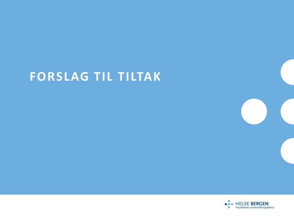 FORSLAG TIL TILTAK