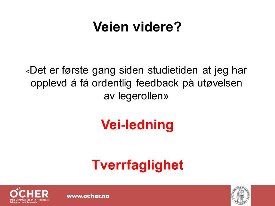 www.ocher.no Veien videre.