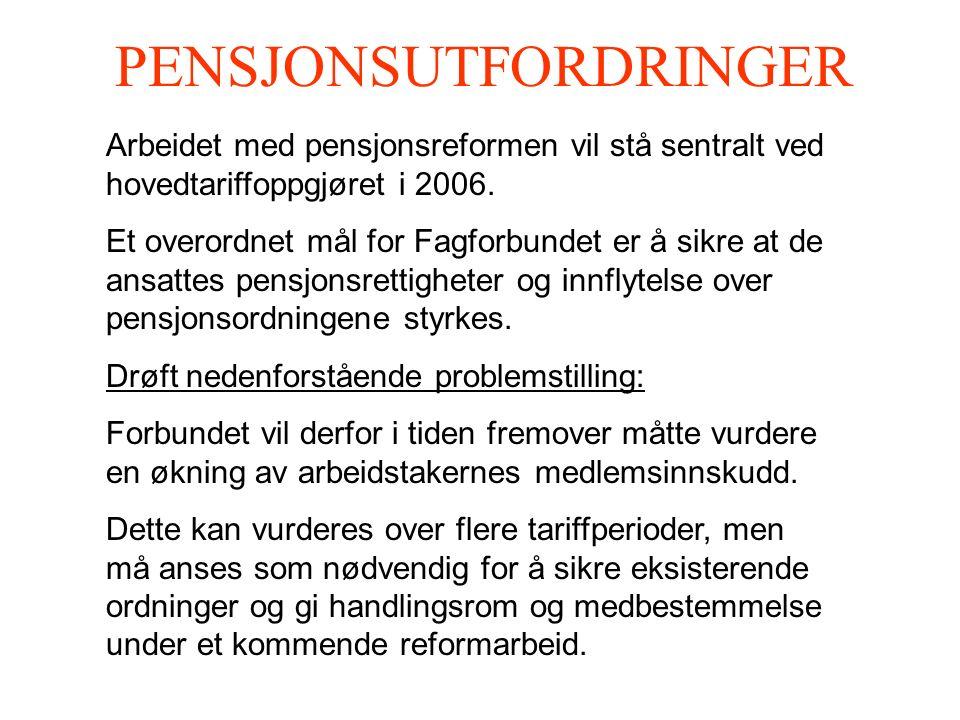 PENSJONSUTFORDRINGER Arbeidet med pensjonsreformen vil stå sentralt ved hovedtariffoppgjøret i 2006.