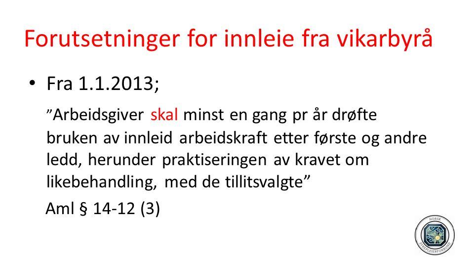 Tillitsvalgtes rolle Trekkhund og vakthund…..