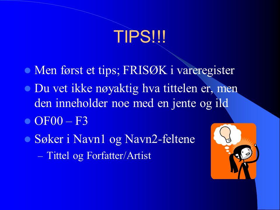 TIPS!!.