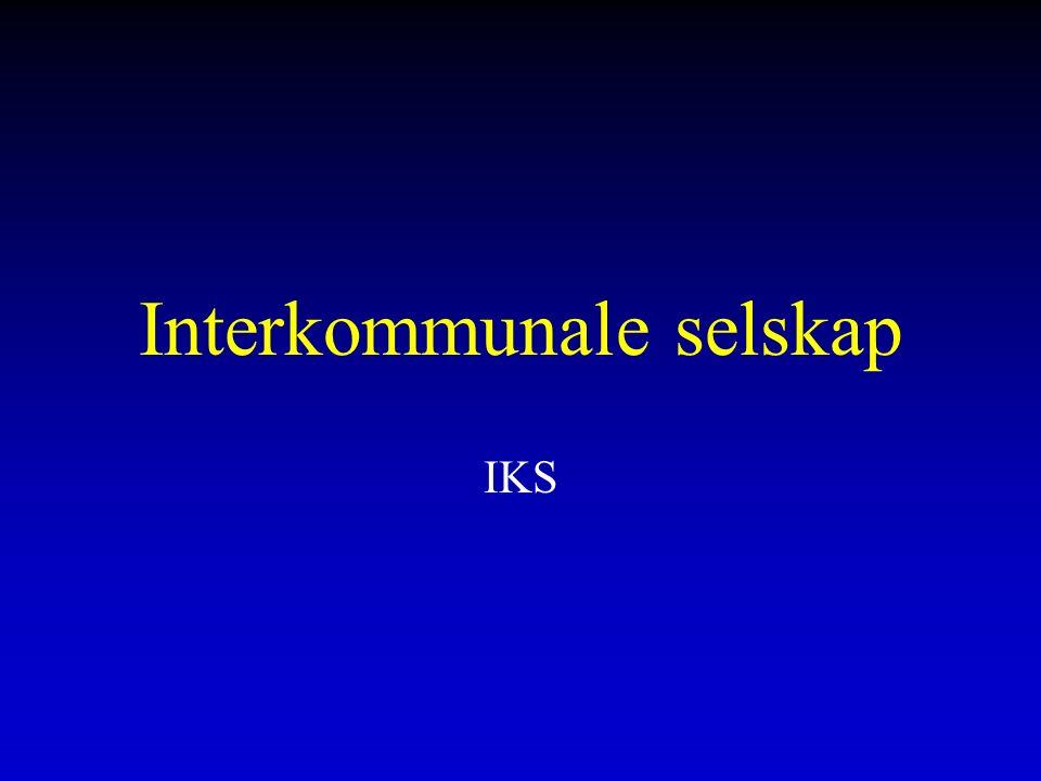 Interkommunale selskap IKS