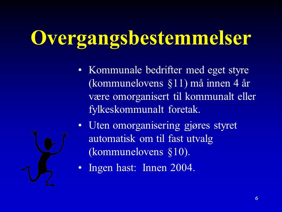 Kommunale foretak KF (fylkeskommunale foretak FKF)