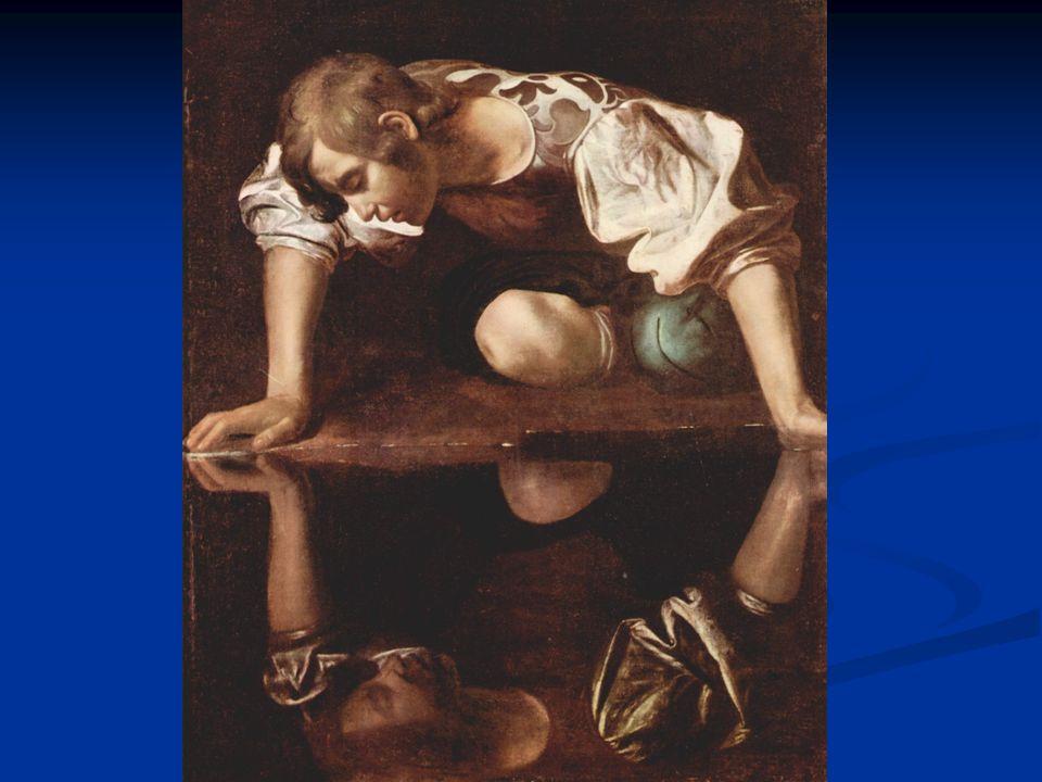 Narcissus sørger over å ikke kunne virkeliggjøre kjærligheten Han ser bildet som også begjærer etter omfavnelse, men som forsvinner hver gang han nærmer seg dette Han ser bildet som også begjærer etter omfavnelse, men som forsvinner hver gang han nærmer seg dette Så oppdager han at det er ham selv og skjønner at han aldri kan få seg selv og ønsker å dø forenet i seg selv Så oppdager han at det er ham selv og skjønner at han aldri kan få seg selv og ønsker å dø forenet i seg selv Han gråter, da oppløses bildet, og senere da han risper seg opp og blør, forvandles bildet av ham selv og langsomt dør han utmattet Han gråter, da oppløses bildet, og senere da han risper seg opp og blør, forvandles bildet av ham selv og langsomt dør han utmattet Og i dammen vokser det opp en.....