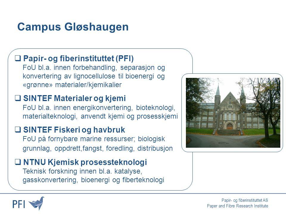 Papir- og fiberinstituttet AS Paper and Fibre Research Institute Biokjemisk vs.