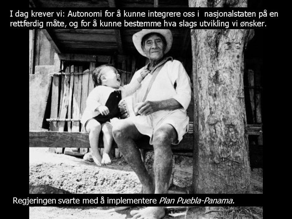 Regjeringen svarte med å implementere Plan Puebla-Panama.