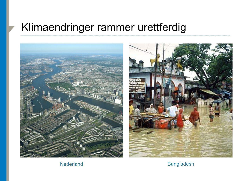 Nederland Bangladesh Klimaendringer rammer urettferdig