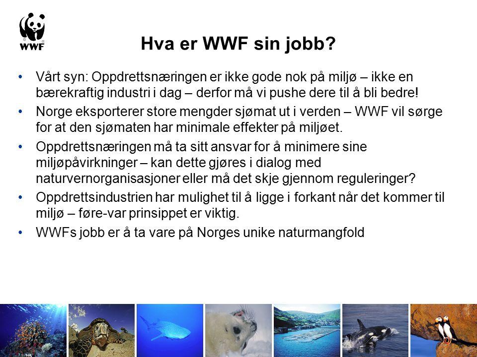 Naturmangfoldåret 2010 FNs naturmangfold år bør være et viktig år for oppdrettsnæringen Dette er året hvor næringen kan vise den er fremtidsrettet ved å forplikte seg til å ikke true naturmangfoldet i Norge og resten av verden Ta ansvar og ikke vær en trussel for våre sårbare villfisk bestander Forplikt dere til å ikke bruke rødlistede arter eller overfiskede bestander i fiskefôret Krev kun fiskefôr fra bærekraftige kilder Bli med på å bidra til å stoppe tapet av naturmangfoldet vårt!
