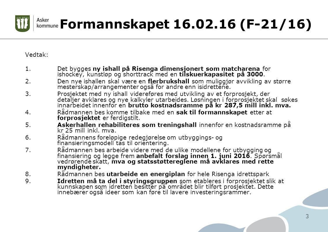 Formannskapet 16.02.16 (F-21/16) Vedtak: 1.