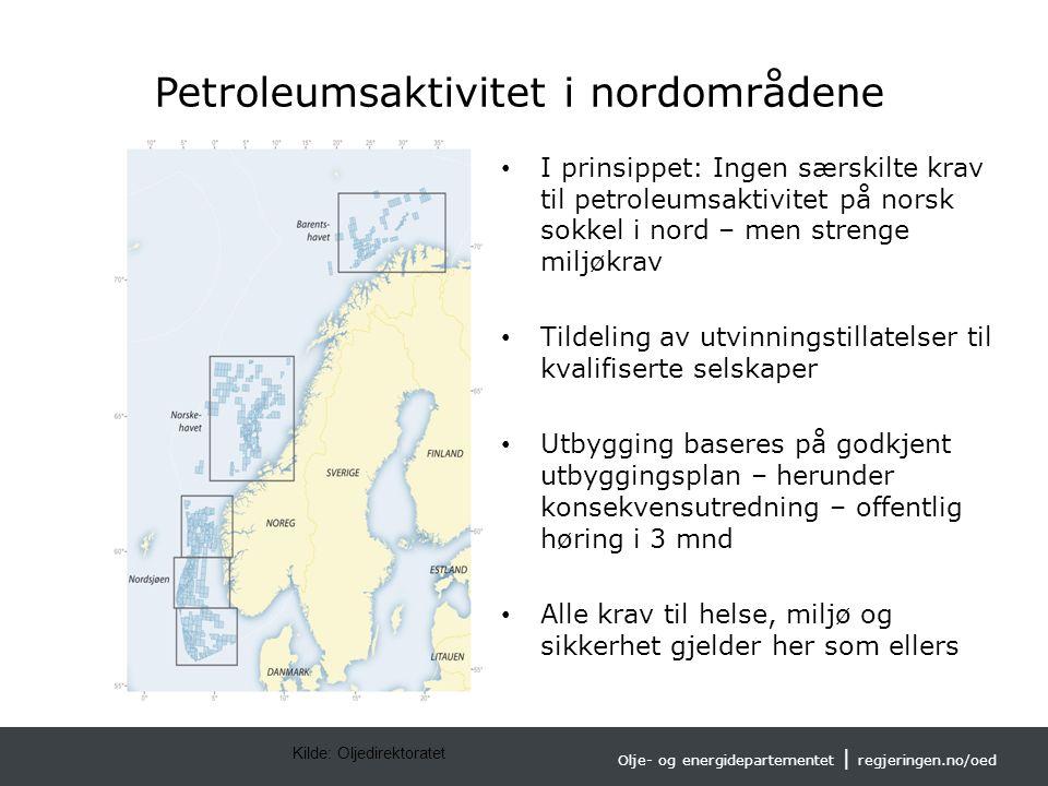 Olje- og energidepartementet | regjeringen.no/oed Norsk mal: To innholdsdeler - Sammenlikning Tips farger: OEDs fargepalett er lagt inn i malen og vil