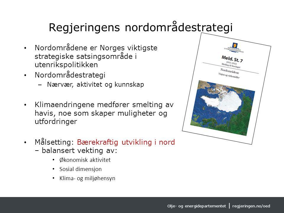 Olje- og energidepartementet | regjeringen.no/oed AMAP (Arctic Monitoring and Assessment Programme) geografisk område
