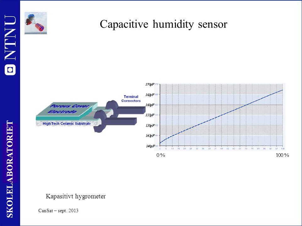 59 SKOLELABORATORIET Capacitive humidity sensor Kapasitivt hygrometer CanSat – sept. 2013