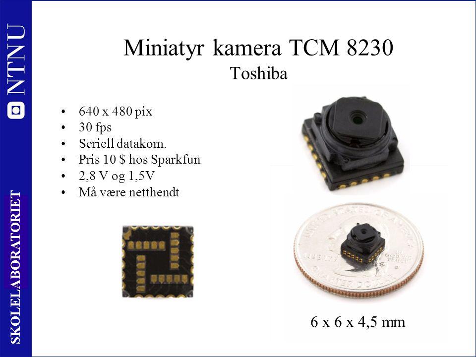 66 SKOLELABORATORIET Miniatyr kamera TCM 8230 Toshiba 640 x 480 pix 30 fps Seriell datakom.