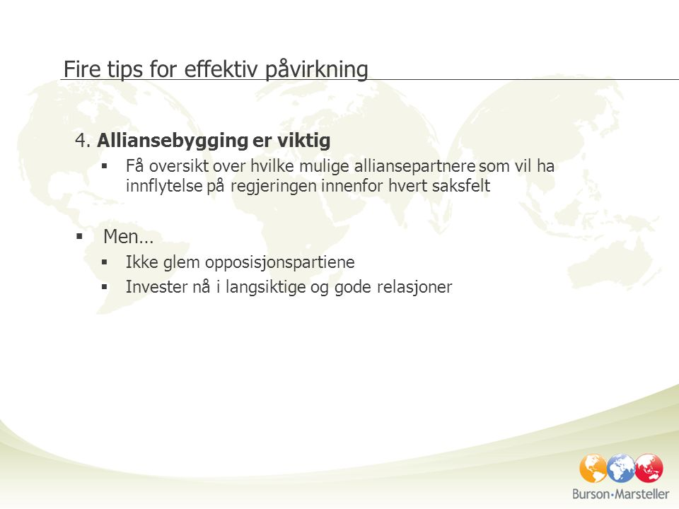 Fire tips for effektiv påvirkning 4.