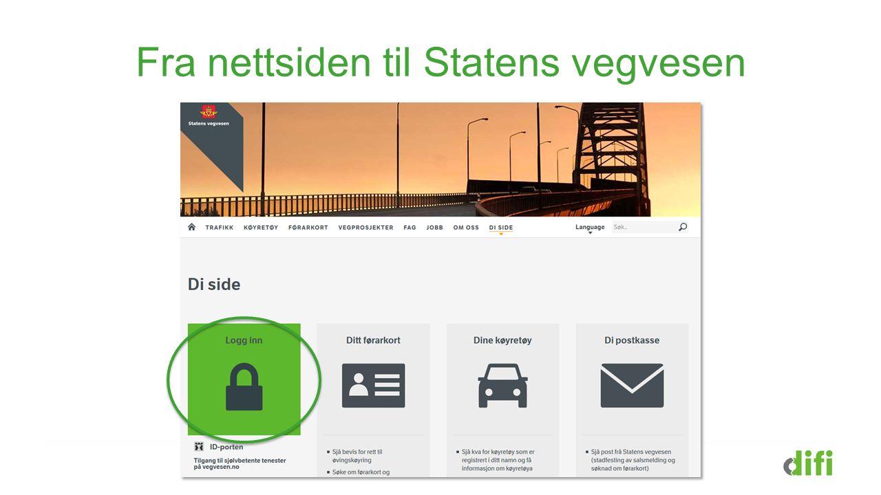 Fra nettsiden til Statens vegvesen