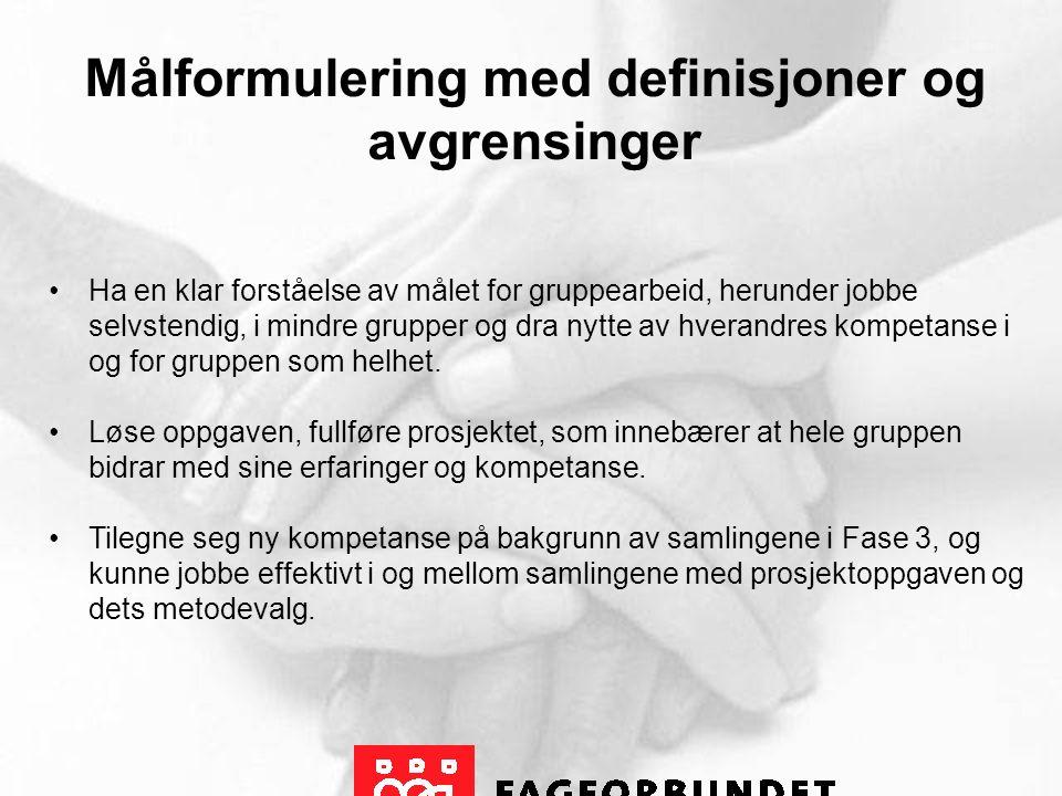 Prosjektoppgave Hvordan få din fagforening til å lykkes med det yrkesfaglige/yrkespolitiske arbeidet i Fagforbundet?