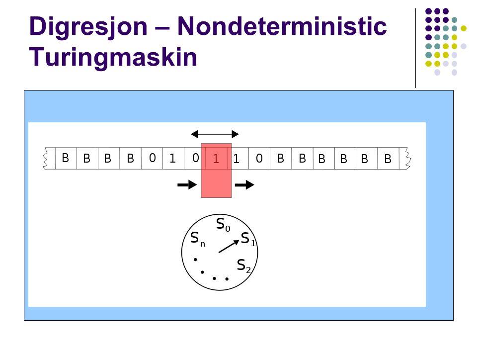 Digresjon – Nondeterministic Turingmaskin