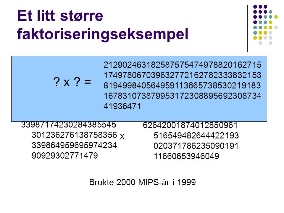 1 1 1 1 1 1 1 HAM-CYCLE ≤ P TSP 1 4 6 3 7 5 2 Transformer ≤ P Finnes det en hamiltonsk sykel i grafen.
