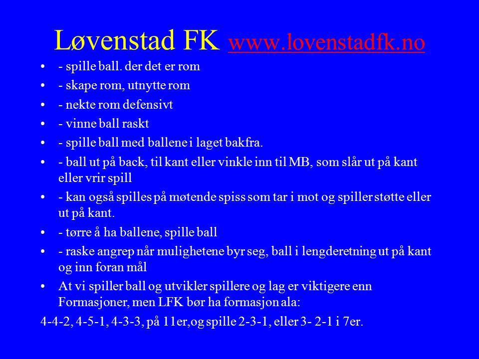 Løvenstad FK www.lovenstadfk.no www.lovenstadfk.no - spille ball.
