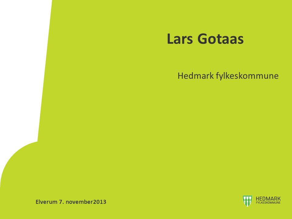 Lars Gotaas Hedmark fylkeskommune Elverum 7. november2013
