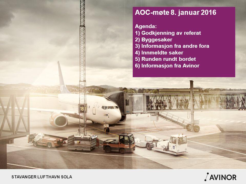 STAVANGER LUFTHAVN SOLA NYE RUTER/ENDRINGER 2016 Destinasjon FlyselskapStart/Stopp København (man + fre) Paris - - - - - - - - - Newcastle Praha Norwegian SAS - - - - - Widerøe Czech Airlines 20.