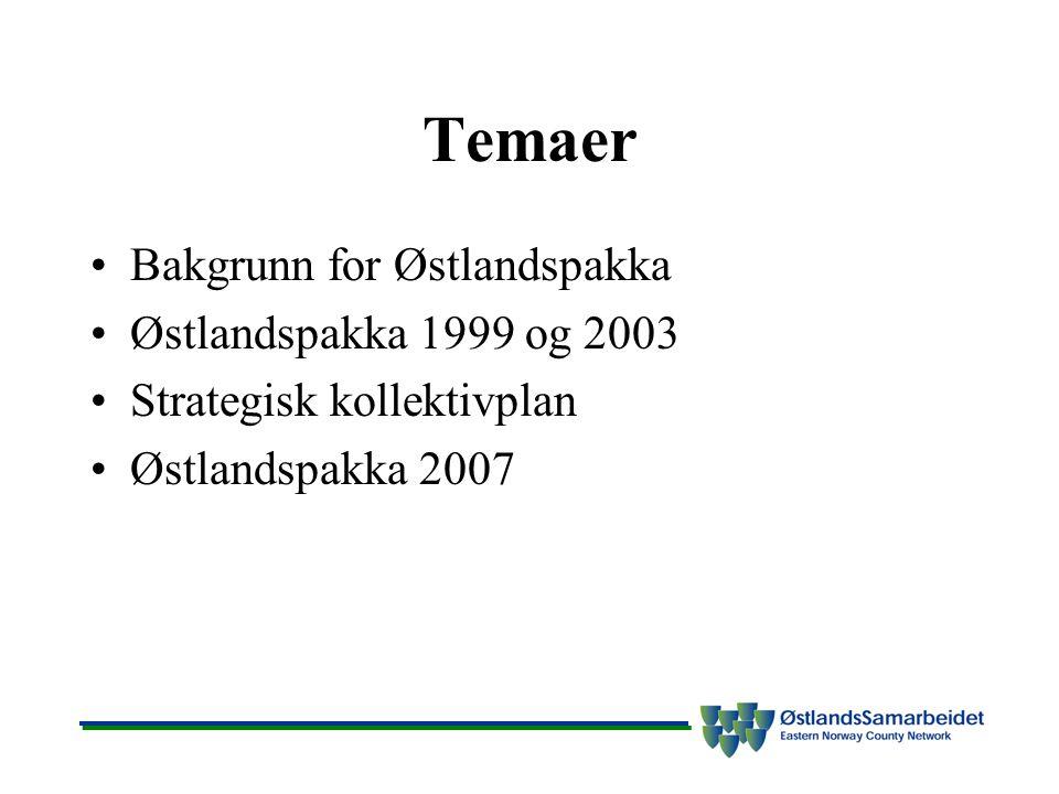 Ekspressbussene er en viktig del av kollektivtilbudet God tilrettelegging av infrastruktur er nødvendig – samarbeid med Statens vegvesen viktig Bedre tilrettelegging av holdeplasser og framkommelighet generelt Framkommelighet til Bussterminalen i Oslo avgjørende.