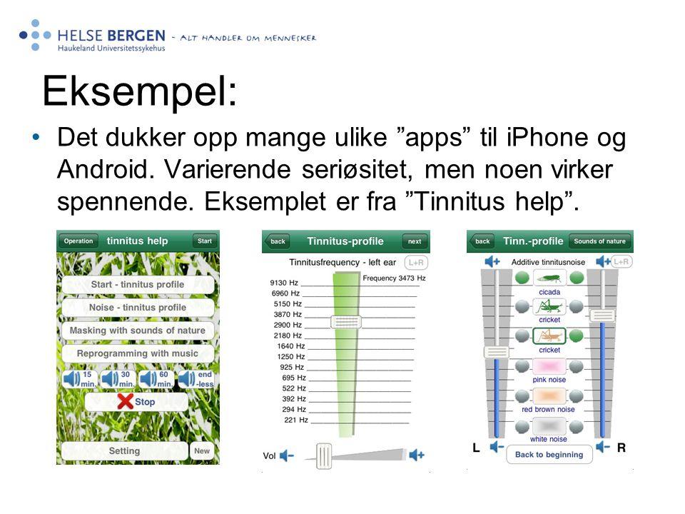 Nett og mobil Det dukker opp mange ulike apps til iPhone og Android.
