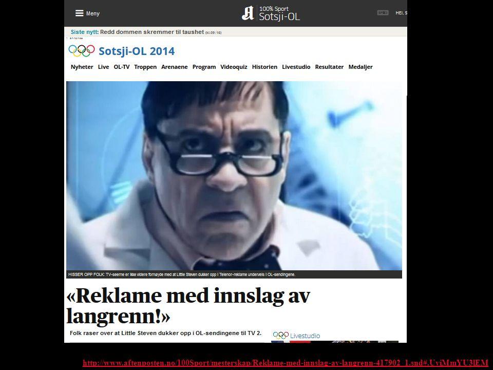http://www.aftenposten.no/100Sport/mesterskap/Reklame-med-innslag-av-langrenn-417902_1.snd#.UviMmYU3lEM