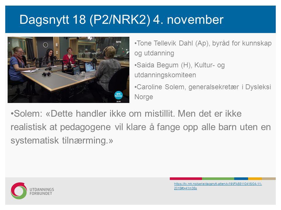 Dagsnytt 18 (P2/NRK2) 4.