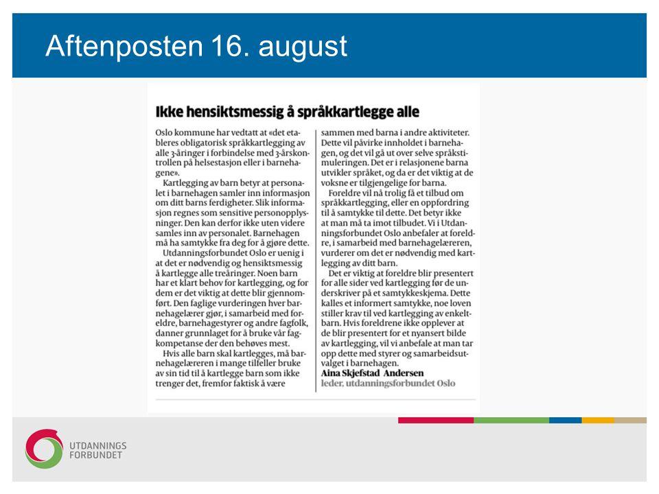 Aftenposten 16. august