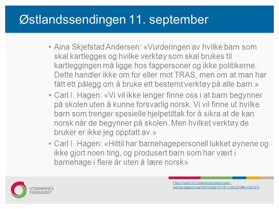 Østlandssendingen 11.