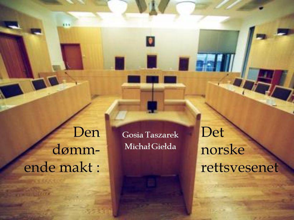 Fordelingen av rettsvesenet I Norge finnes det generelt fire (viktigste) typer domstoler: Høyesterett 6 lagmannsretter 81 tingretter 434 forliksråd