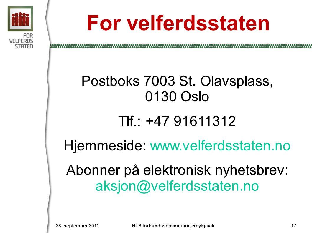Postboks 7003 St.