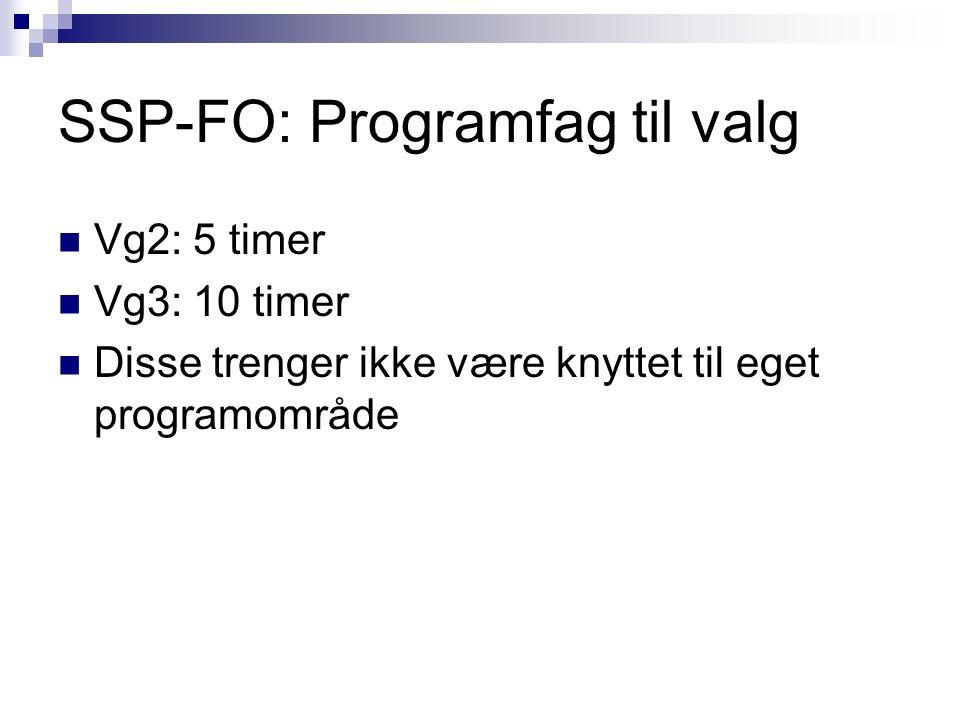 SSP - språkfag Fremmedspråk kan tas som programfag på alle nivå.