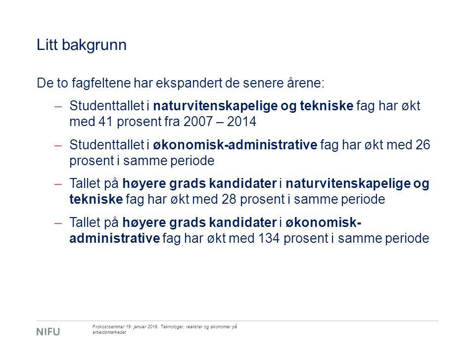 Samarbeid med arbeidslivet i studietida Tidligere funn: –Øker sjansene for vellykket overgang fra høyere utdanning til arbeid.