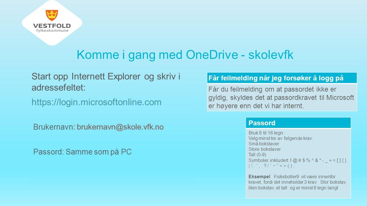 Velg: Vis filene mine og du vil se at det er blitt opprettet en mappe med navnet OneDrive for Business og med denne plassering