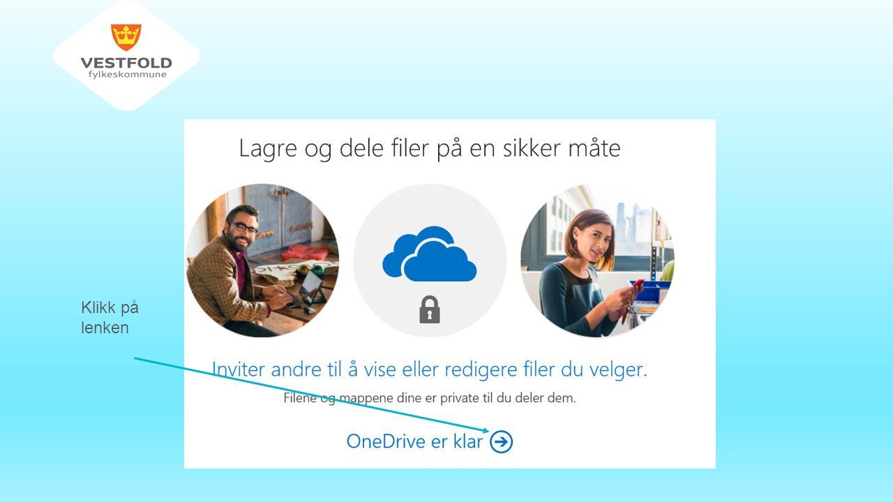 Tilgang til OneDrive i VFK-Login Snarvei fra Portalen Oppsett av Word som vist over 1.Start Word 2013 2.Opprett et nytt dokument 3.Velg Fil på menylinjen 4.+ Legg til et sted 5.Office 365 SharePoint