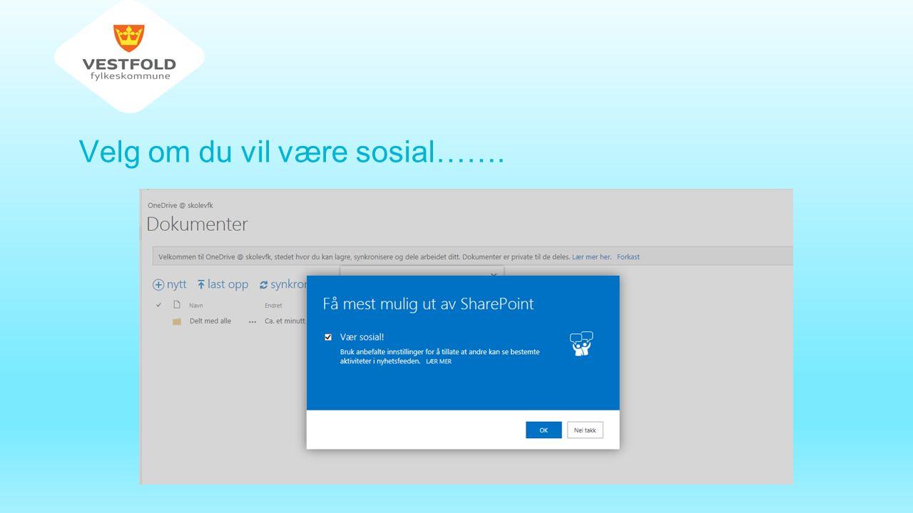 OneDrive – skolevfk - aktivering av program på PC Klikk på synkroniser