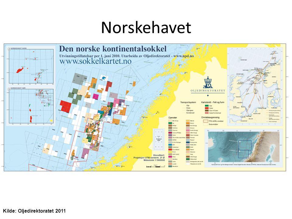 Norskehavet Kilde: Oljedirektoratet 2011