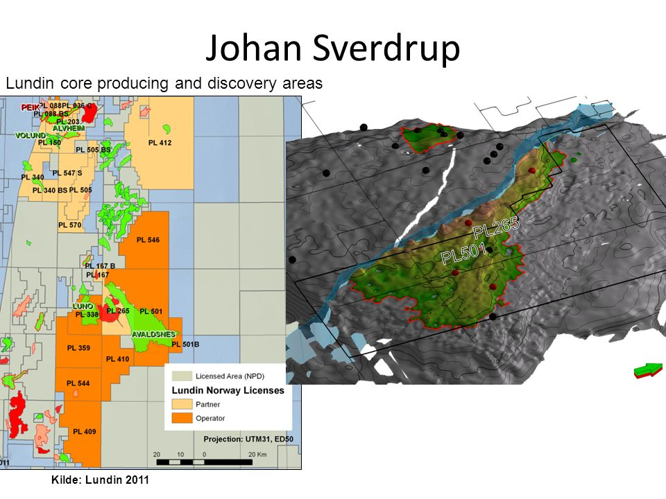 Lundin core producing and discovery areas Johan Sverdrup Kilde: Lundin 2011