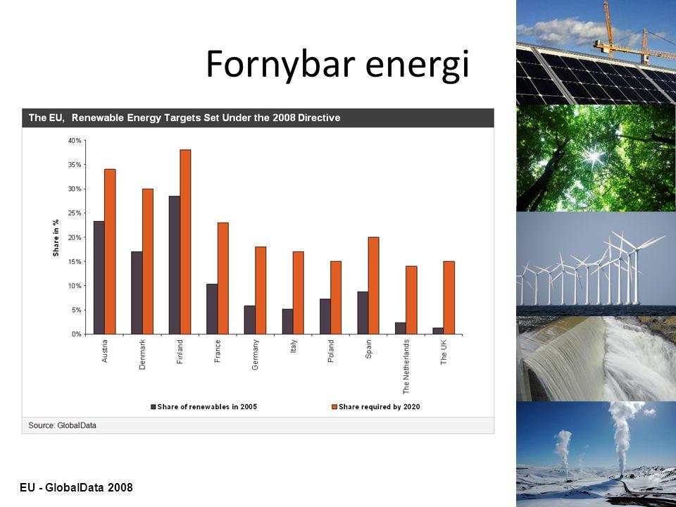 Fornybar energi EU - GlobalData 2008
